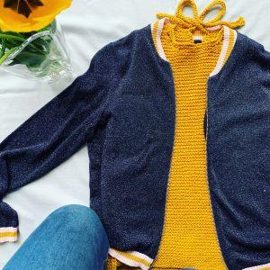 top jaune tricoté en coton